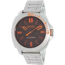 Hugo Boss 1513296 Mens Brown Dial Analog Quartz Watch with Stainless Steel Strap