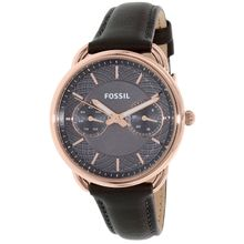 Fossil ES3913 Womens Grey Dial Analog Quartz Leather Strap Watch