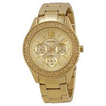 Fossil ES3589 Womens Champagne Dial Analog Quartz Watch