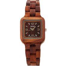Tense L7305R Womens Summit Wood Case and Bracelet Brown Dial Brown Watch
