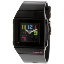 Casio BGA200PD-1B Womens Black Dial Analog Quartz Watch with Resin Strap