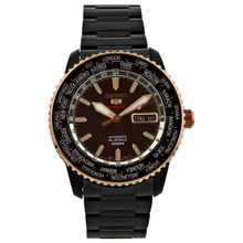 Seiko SRP132 Mens Brown Dial Analog Automatic Watch with Stainless Steel Strap