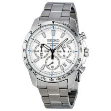 Chronograph White Dial Stainless Steel Men's Watch