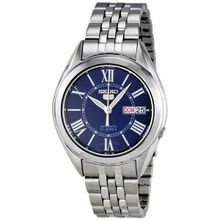 Seiko Seiko 5 SNKL31 Mens Blue Dial Analog Automatic Watch with Stainless Steel Strap