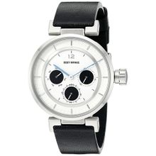 Issey Miyake SILAAB02 Womens White Dial Analog Quartz Watch with Leather Strap