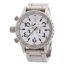 Men's Nixon The 42-20 Chronograph Steel Watch A037-100