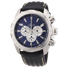 Festina F16489/8 Mens Blue Dial Analog Quartz Watch with Leather Strap