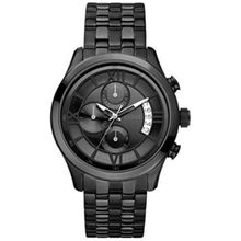 Guess U17526G1 Mens Black Dial Quartz Watch with Stainless Steel Strap