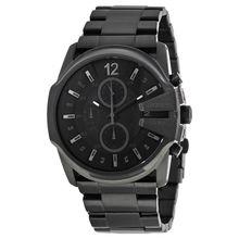 Diesel DZ4180 Mens Black Dial Analog Quartz Watch with Stainless Steel Strap