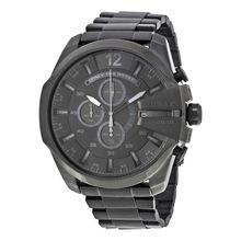 Diesel DZ4355 Mens Black Dial Analog Quartz Watch with Stainless Steel Strap