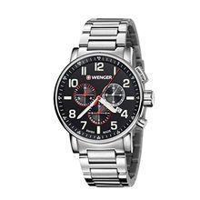 Wenger 01.0343.105 Mens Black Dial Analog Quartz Watch