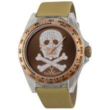 Toy Watch S07BROS Unisex Brown Dial Analog Quartz Watch with Satin Strap