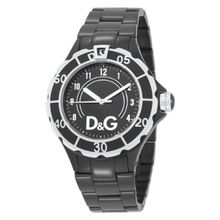 Dolce And Gabbana DW0662 Womens Black Dial Analog Quartz Watch