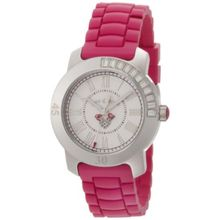 Juicy Couture 1900545 Womens White Dial Quartz Watch with Rubber Strap