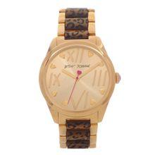 Betsey Johnson BJ00105-02 Womens Gold Dial Analog Quartz Watch