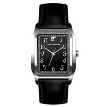 Ted Lapidus 5116802 Mens Black Dial Analog Quartz Watch with Leather Strap
