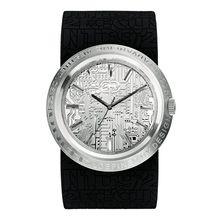 Marc Ecko E11534G1 Mens Silver Dial Analog Quartz Watch with Silicone Strap