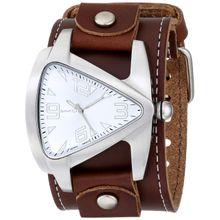 Nemesis BLBB011S Mens Silver Dial Analog Quartz Watch with Leather Strap