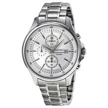 Seiko SNDE17 Mens Silver Dial Analog Quartz Watch with Stainless Steel Strap