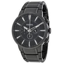 Fossil FS4778 Mens Black Dial Analog Quartz Stainless Steel Watch