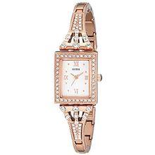 Women's Rose Gold Guess Crystallized Dress Watch U0430L3