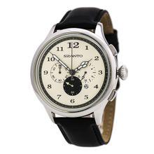Szanto SZ2402 Unisex Quartz Watch with Leather Strap