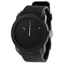 Diesel DZ1437 Unisex Black Dial Analog Quartz Watch with Silicone Strap