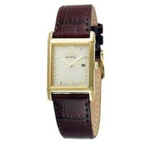Citizen BW0072-07P Mens Gold Dial Analog Quartz Watch with Leather Strap