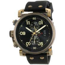 Men's Black Vestal USS Observer Chronograph Watch OBCS007