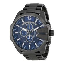 Diesel DZ4329 Mens Blue Dial Analog Quartz Watch with Stainless Steel Strap