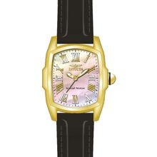 Invicta 20459 Mens Lupah Gold Leather Quartz Watch