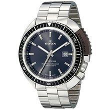 Edox 53200 3NGM GIN Mens Grey Dial Analog Quartz Watch