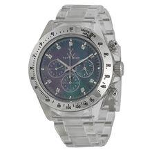 Toy Watch 8001BKP Unisex Black Mop Dial Analog Quartz Watch with Carbon Strap