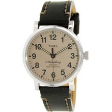 Timex TW2P58800 Mens Brown Dial Analog Quartz Watch with Leather Strap