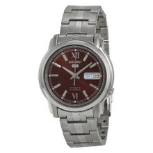 Seiko SNKK79 Mens Brown Dial Analog Automatic Watch with Stainless Steel Strap