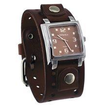 Nemesis BBB516B Mens Brown Dial Analog Quartz Watch with Leather Strap