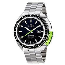 Edox 53200-3NVM-NIN Mens Black Dial Quartz with Stainless Steel Strap Watch