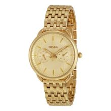 Fossil ES3714 Womens Gold Dial Analog Quartz Watch
