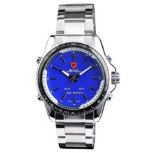 Shark SH002 Mens Blue Dial Analog Quartz Watch with Stainless Steel Strap