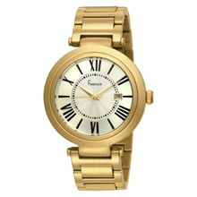 Freelook HA1134GM-3 Mens Gold Dial Quartz Watch with Stainless Steel Strap