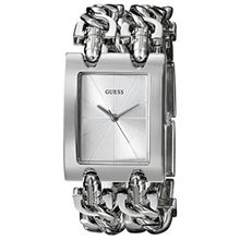 Guess G75916L Womens Silver Dial Quartz Watch with Stainless Steel Strap