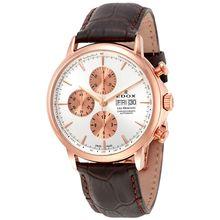 Edox 01120 37R AIR Mens Les Bemonts Analog Display Swiss Automatic Brown Watch