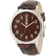 Juicy Couture 1900946 Womens Brown Dial Quartz Watch with Leather Strap