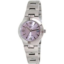 Casio LTP1241D-4A Womens Pink Dial Analog Quartz Watch