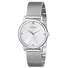 Women's Guess Sophisticated Diamond Mesh Bracelet Watch U0532L1