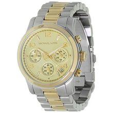 Women's Two-Tone Michael Kors Runway Chronograph Watch MK5137