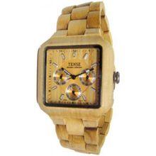 Tense B7305M Mens Wood Dial Chronograph Quartz Watch