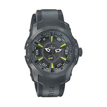 Titan 1630NP02 Mens Black Dial Quartz Watch with Silicone Strap