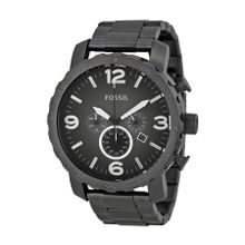 Fossil JR1437 Nate Mens Grey Dial Analog Quartz Stainless Steel Watch