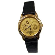 Mickey Mouse Watch Through the Mirror Mickey with Cards Gold Womens Seiko